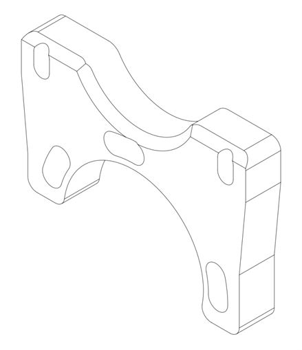 1755 Kelgate K36 Caliper Mount Plate for 30mm Axle (83736)