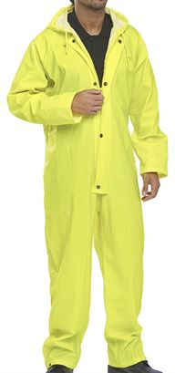 137-0006 Hi-Vis Yellow One-Piece Waterproof Suit