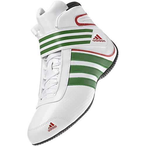 136-0041 Adidas Kart XLT Shoe White-Green-Red