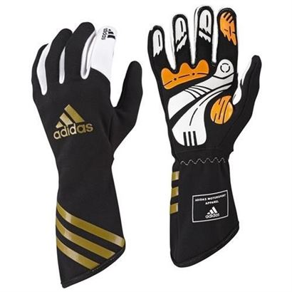 136-0113 Adidas Kart XLT Glove Gold-Black