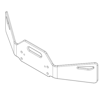 124-0015 Evo3 Light Angled Front Bumper 482 500x500