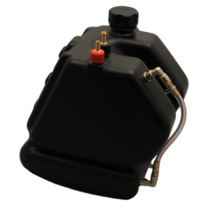 101-1032 Black 8.5ltr fuel tank with sight tube fitted 500x500
